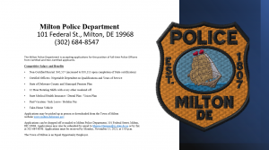 Police Officer Hiring Announcement